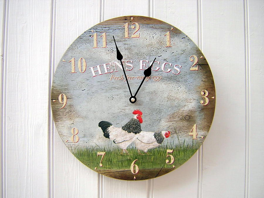 Hens Eggs Clock