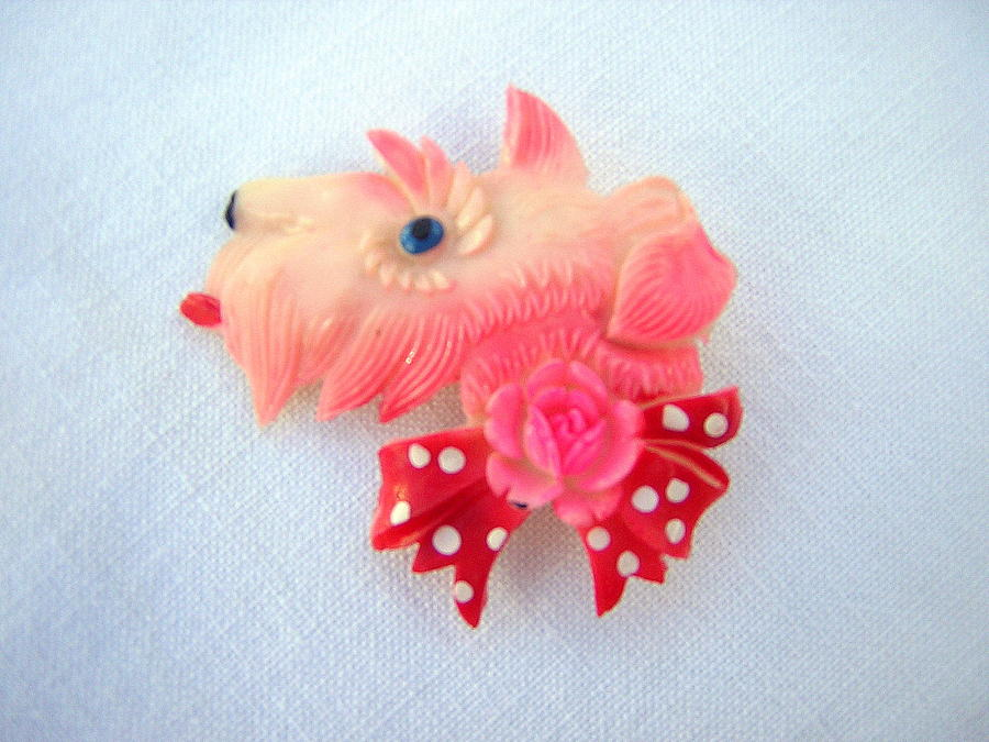 Spotty Scottie Brooch
