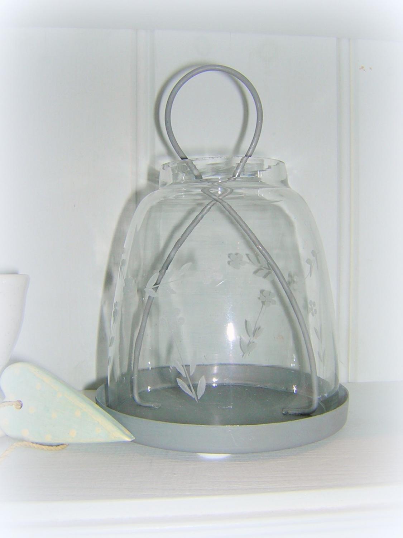 Etched Glass Tea-Light Holder