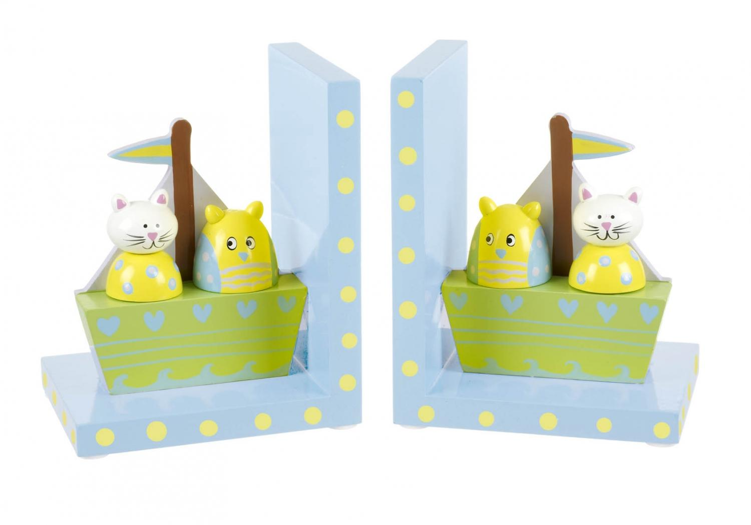Owl and Pussycat Bookends