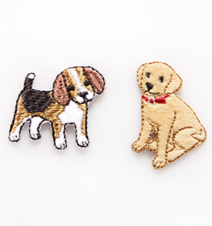 Beagle and Labrador Iron-On Patch