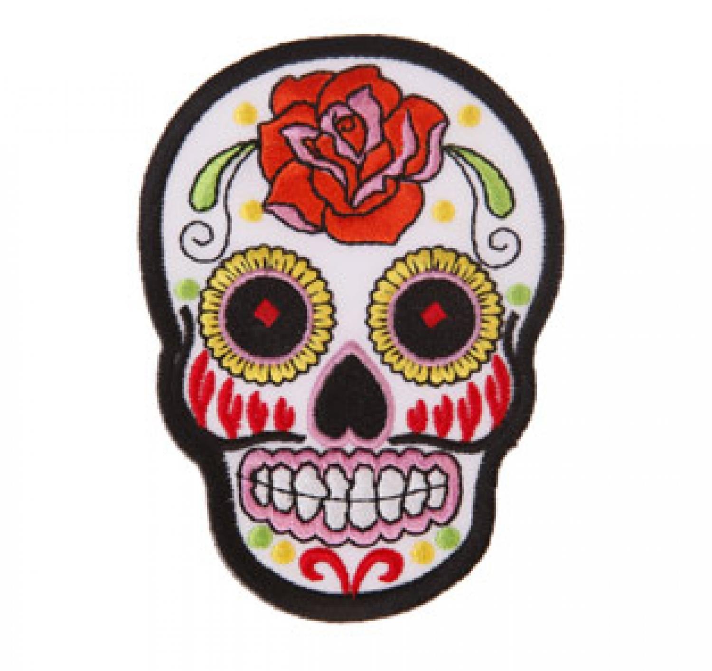 Sugar Skull Iron-On Patch