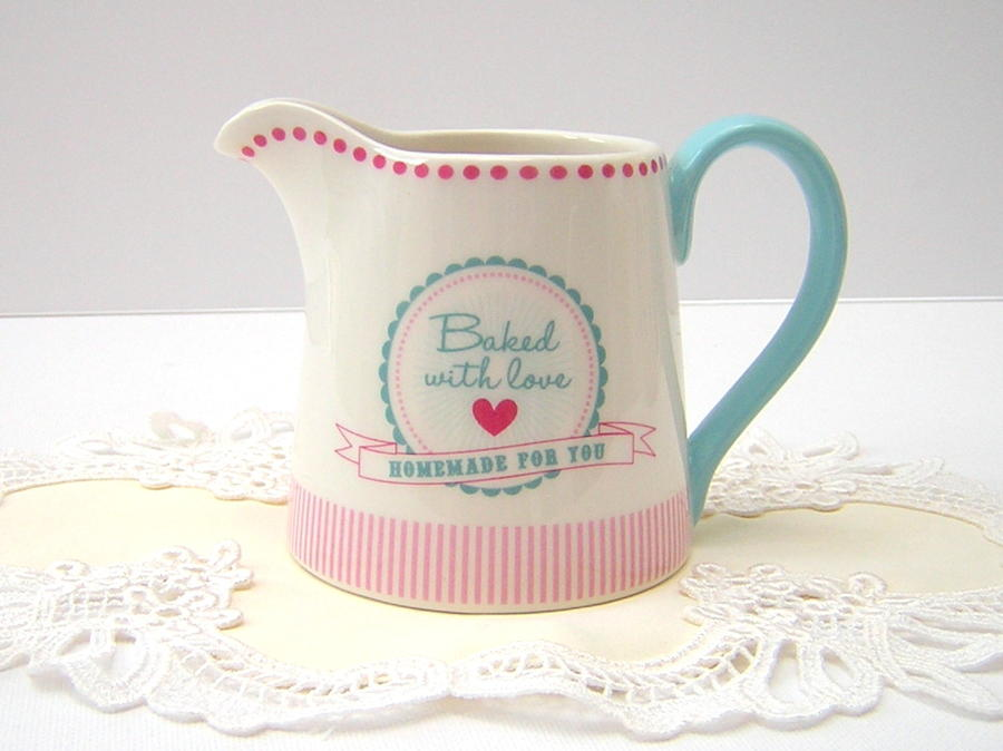 Baked With Love Cream Jug