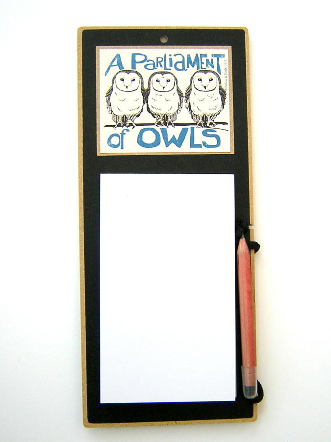 A Parliament of Owls Magnetic Memo