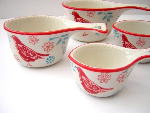 Folk Bird Measuring Cups