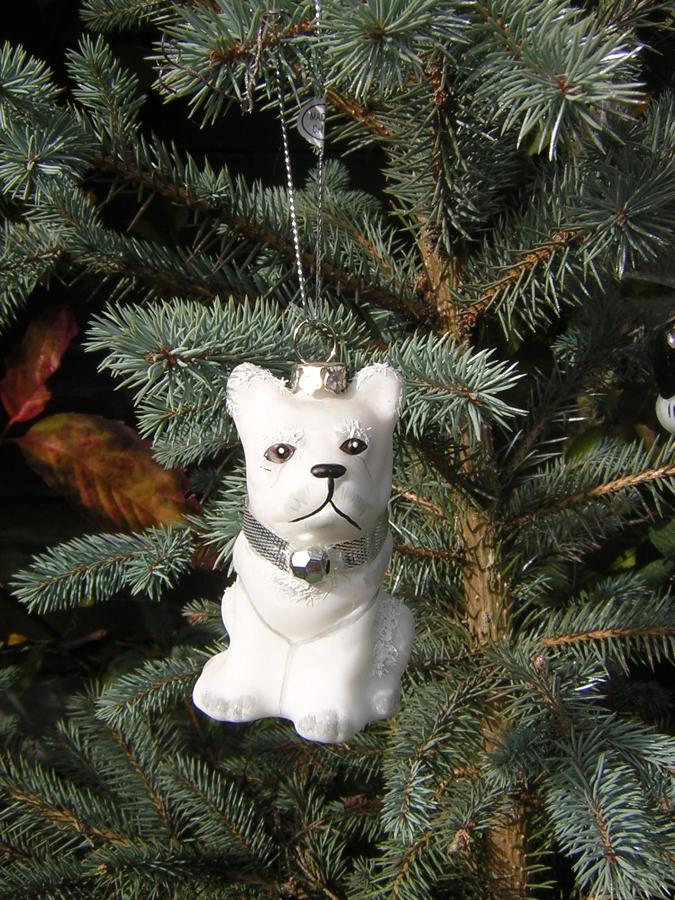 Snowdrop Dog Tree Decoration