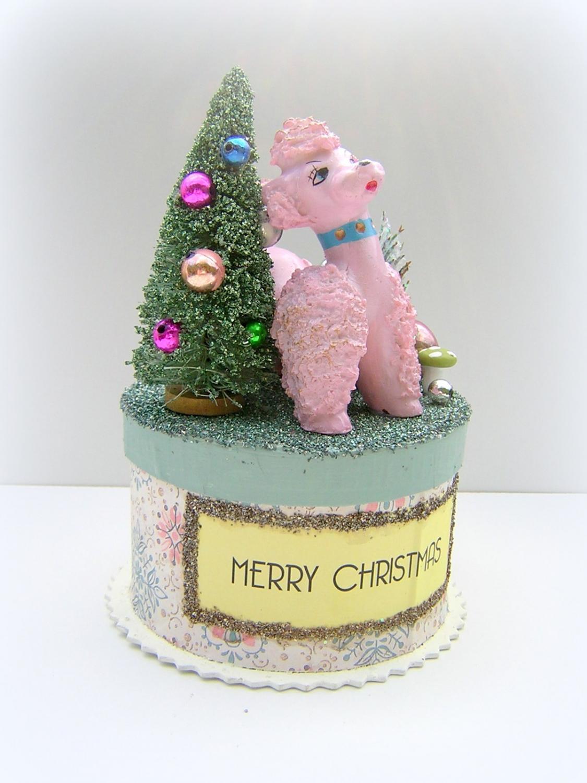 Pink Poodle Retro Trinket Box