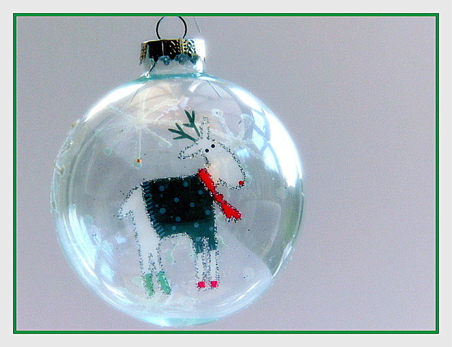 Ronald Reindeer Glass Bauble