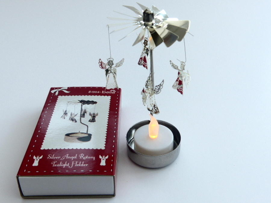 Angel Spinning Candle Holder