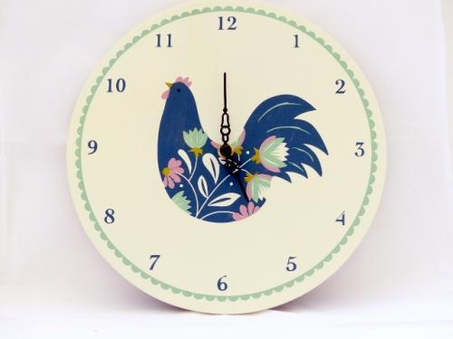 Flowery Hen Clock