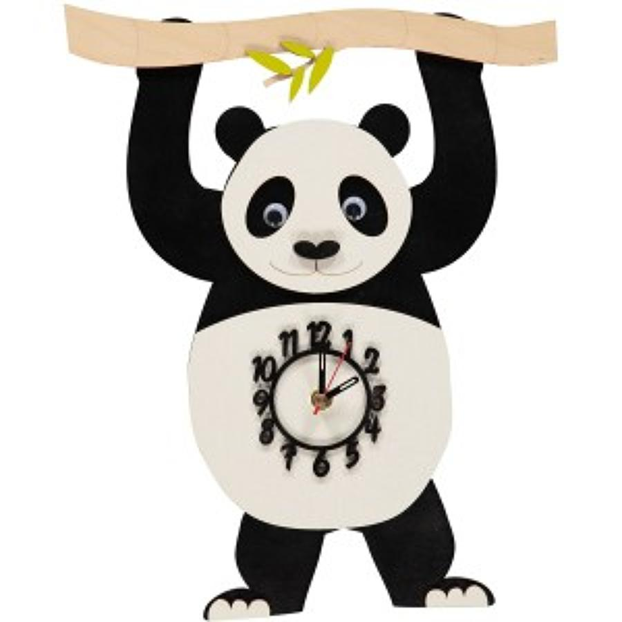 Jungle Panda Pendulum Clock