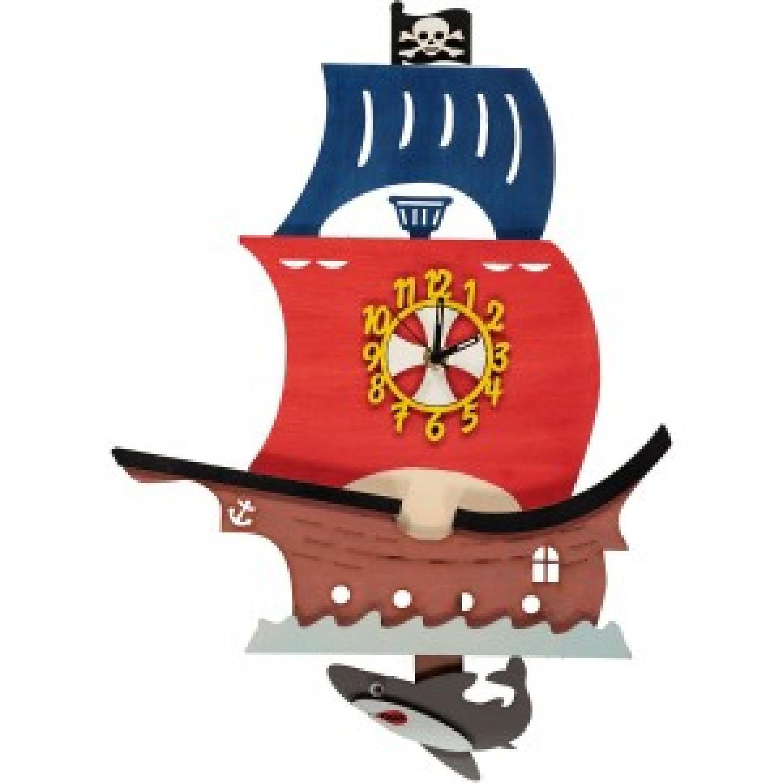 Pirate Ship Pendulum Clock