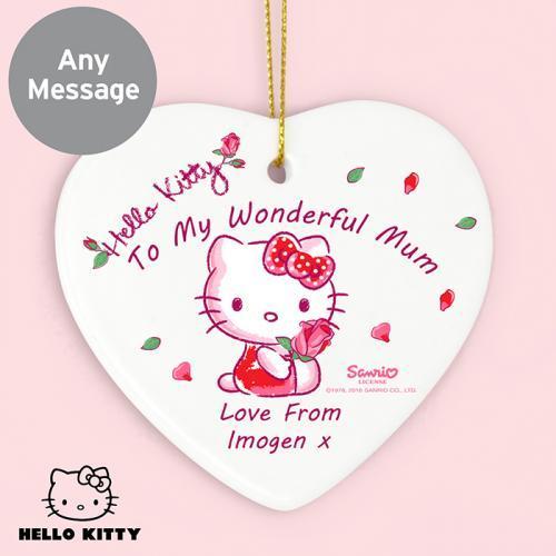 Hello Kitty Cherry Bloom Ceramic Heart