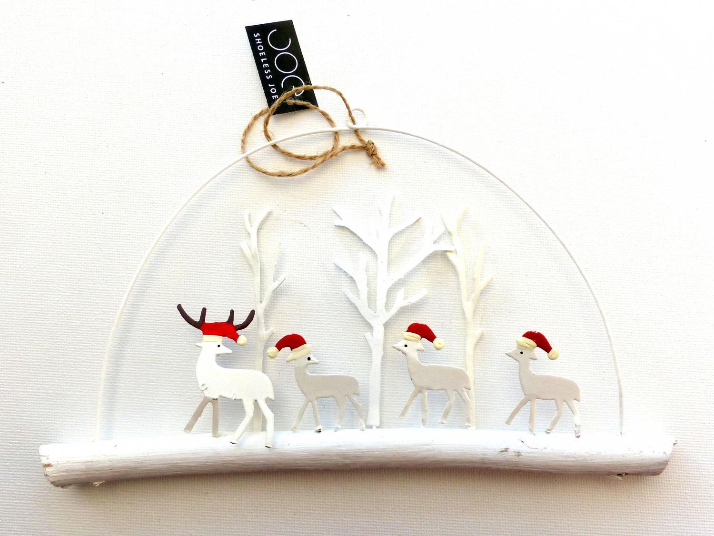 Festive Deer Snowy Scene