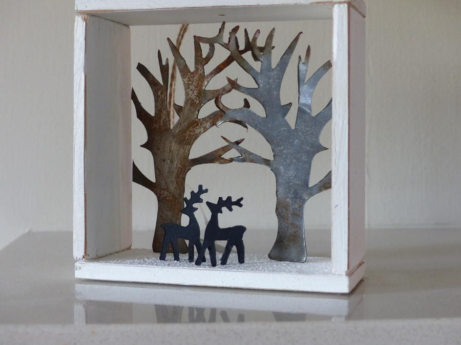 Reindeer Shadow Box