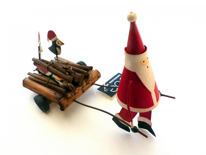 Santa and Puffin Decoration