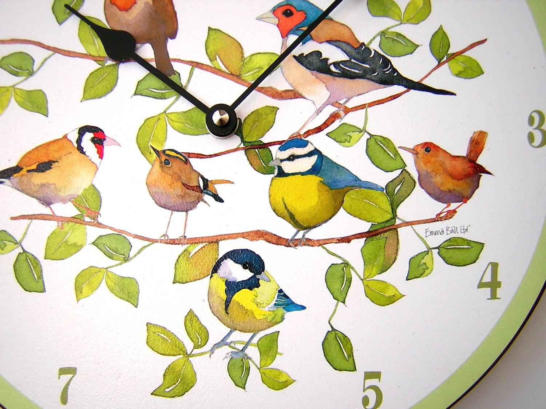 Emma Ball Summer Birds Clock