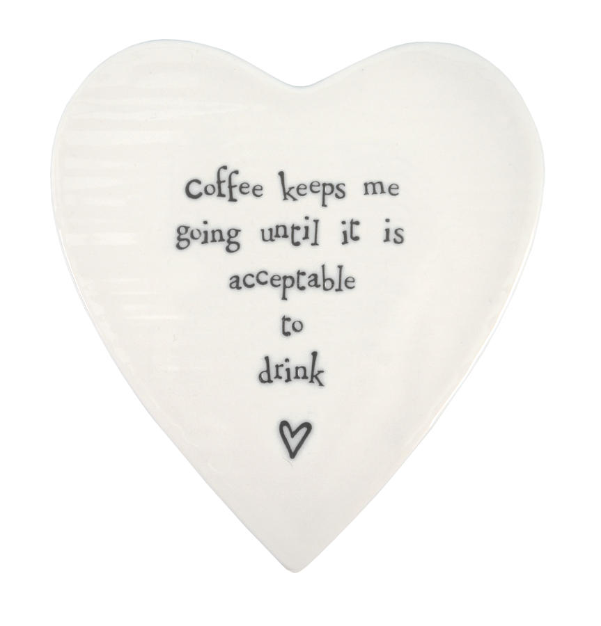 Porcelain Coaster 'Coffee Keeps Me Going...'