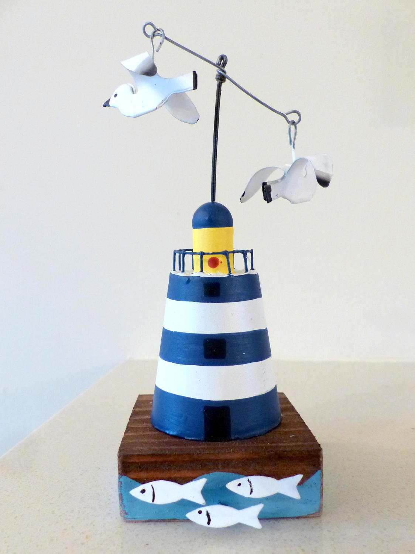 Shoeless Joe Blue Lighthouse