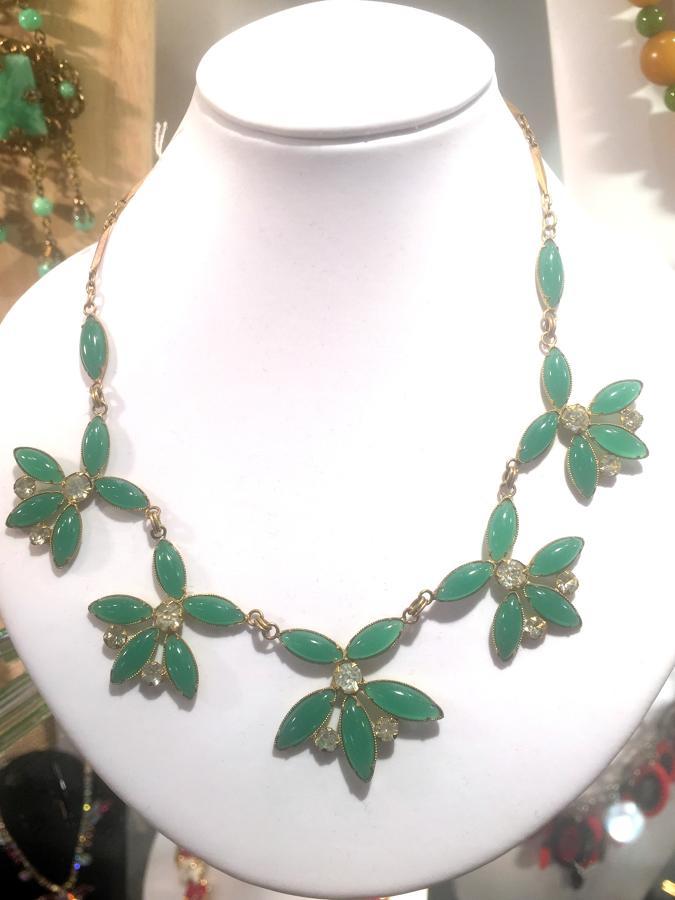 Green Opalite Demi-Parure