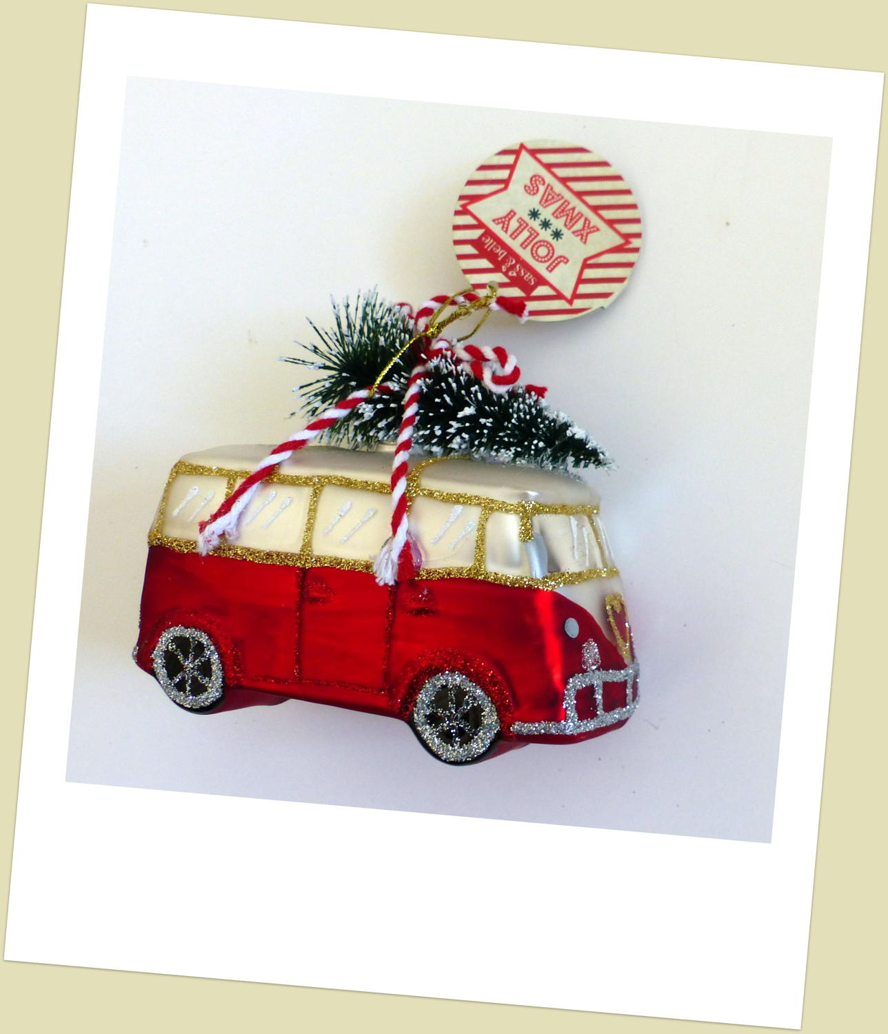 Coming Home For Christmas Campervan Decoration