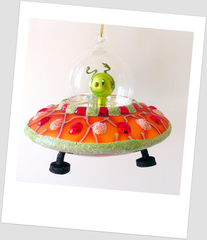 Spaceship Alien Decoration