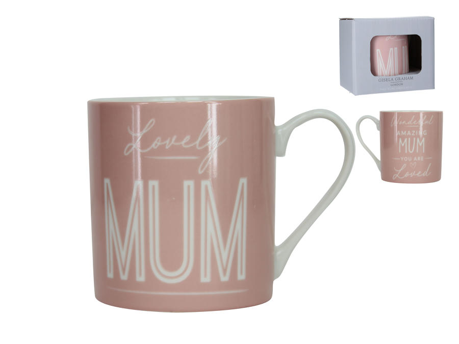 Gisela Graham Lovely Mum Ceramic Mug