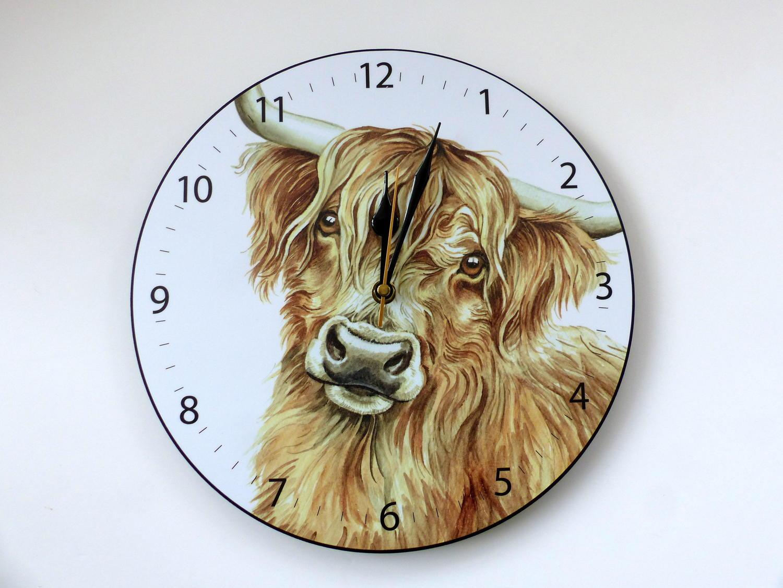 Highland Cattle Clock