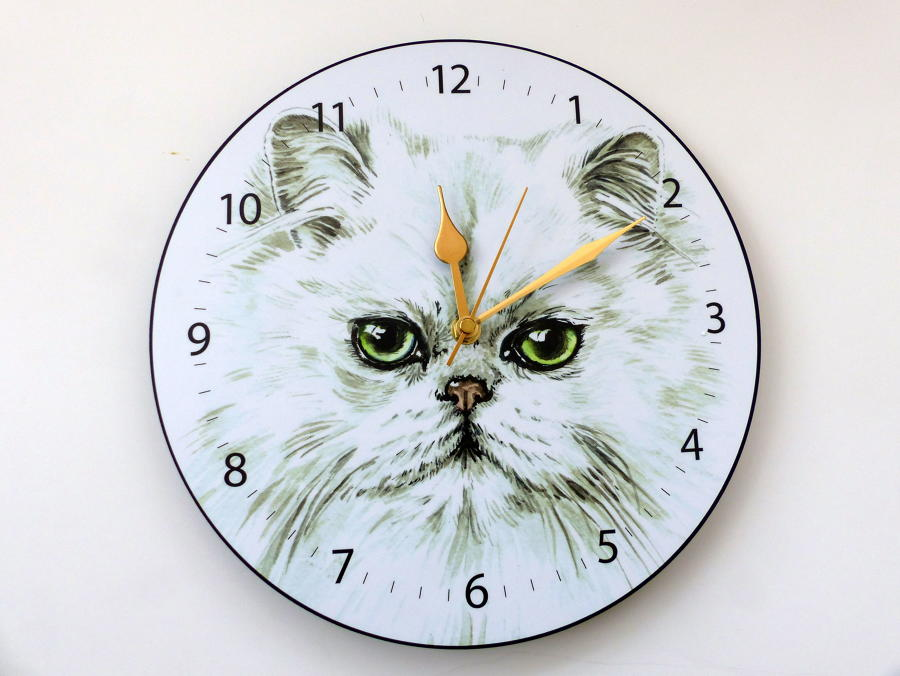 Persian Cat Wall Clock