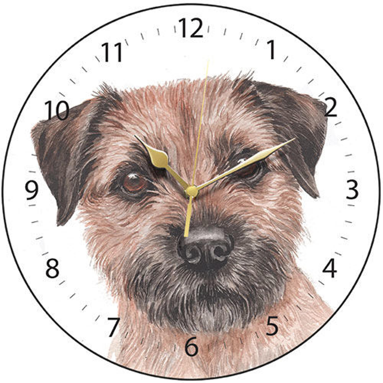 Border Terrier Clock