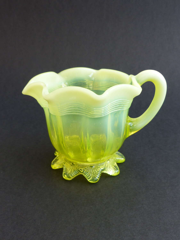Davidson Uranium Glass Creamer