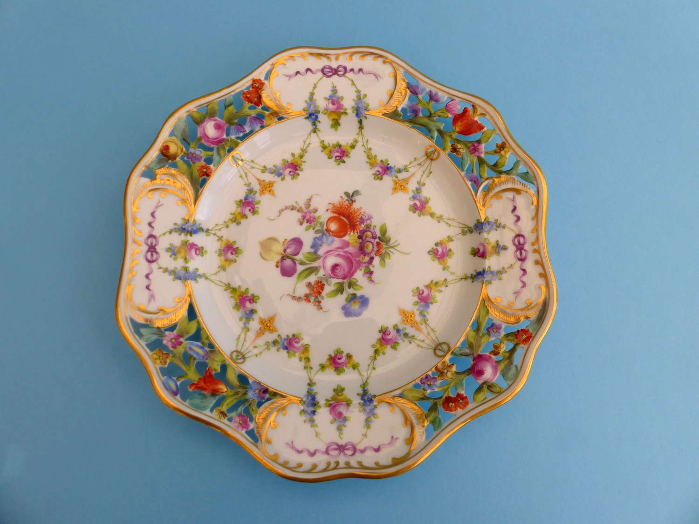 Dresden Porcelain Cabinet Plate