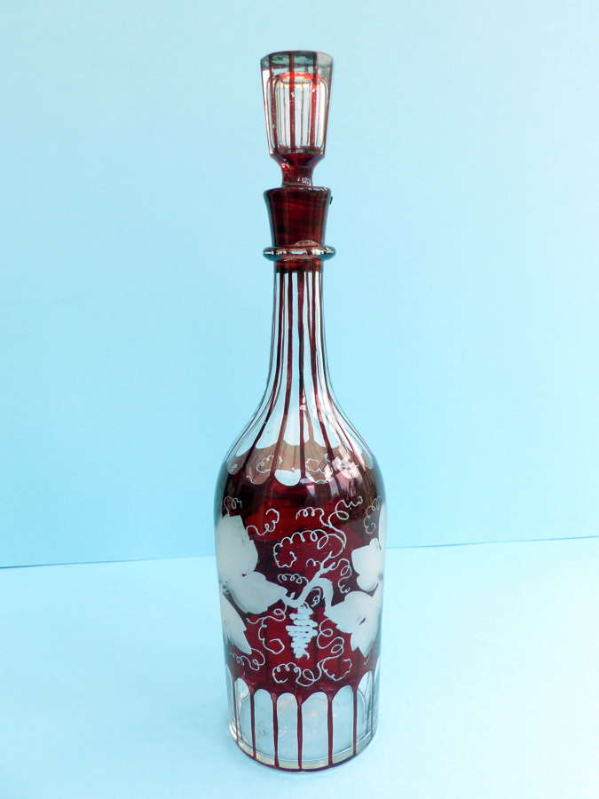 Cranberry Wine Decanter