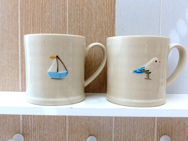 Gisela Graham Seagull Small Mug
