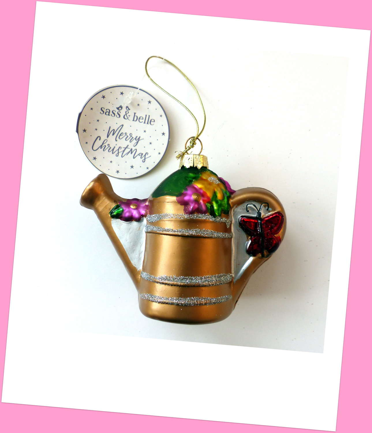 Festive Watering Can Decoration