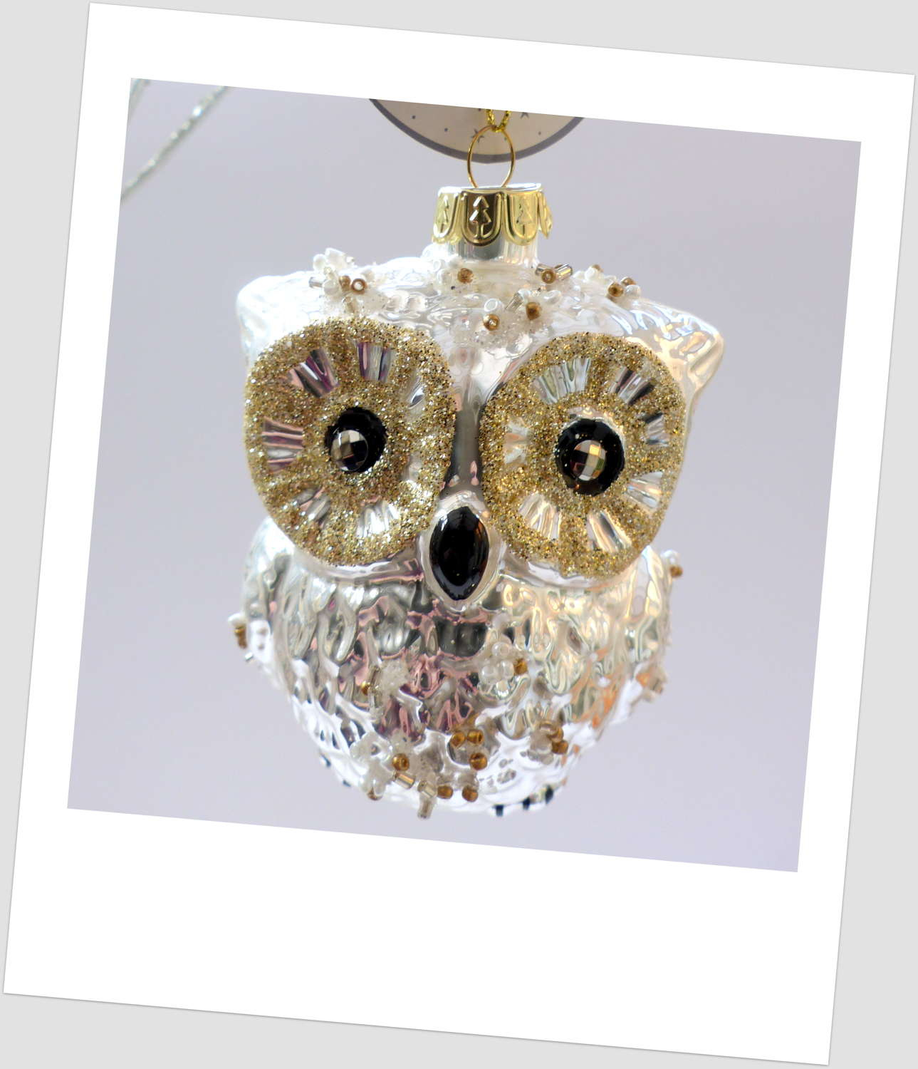 Sass and Belle Snowy Owl Tree Decoration