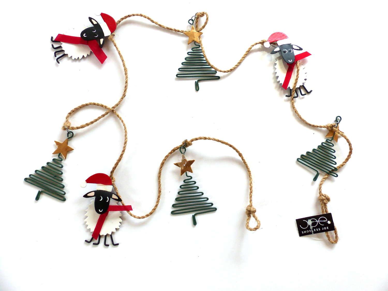 Festive Sheep and Christmas Tree Banner