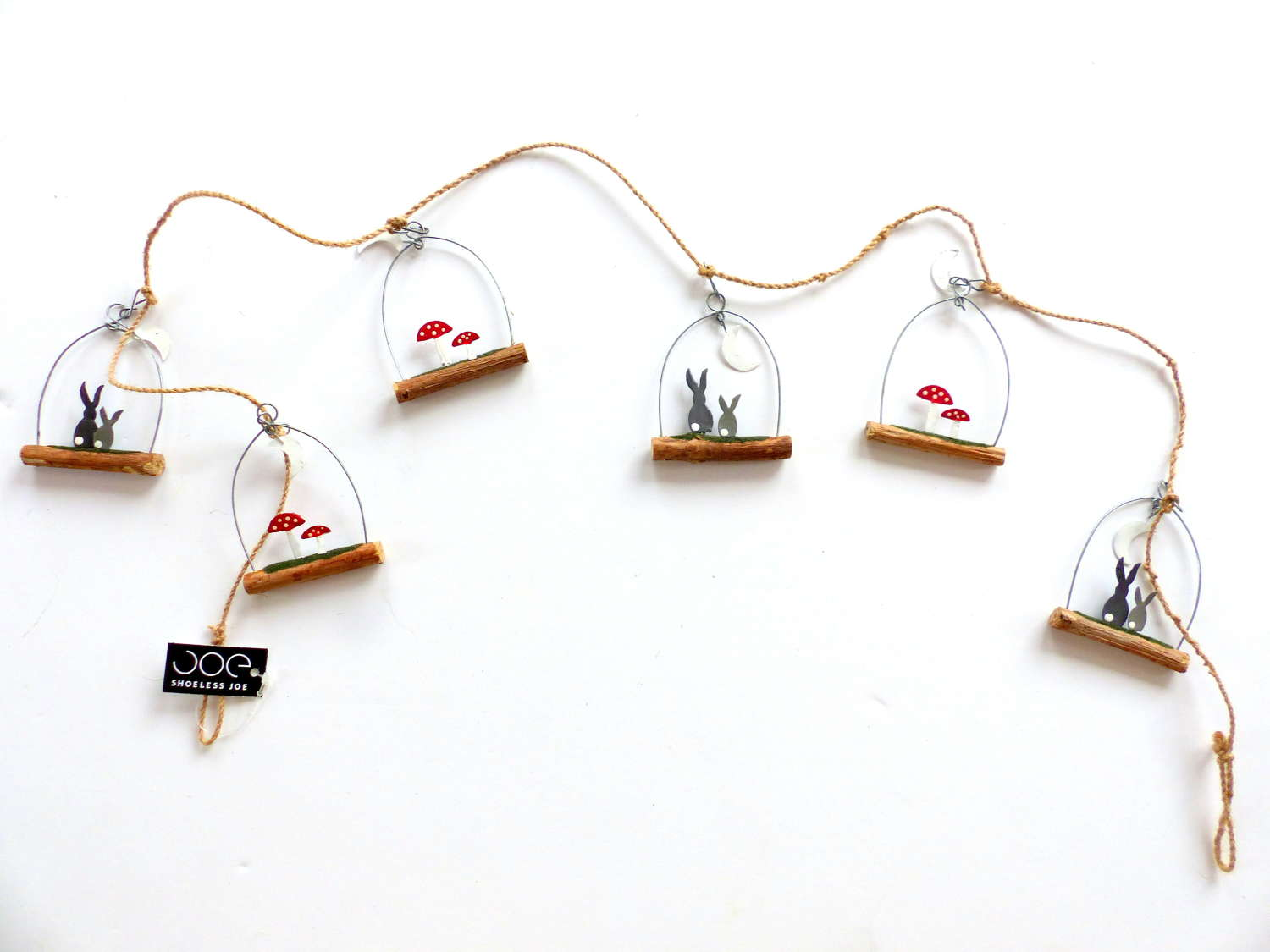 Festive Hare and Toadstool Bunting