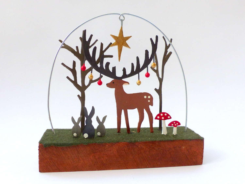 Shoeless Joe Woodland Creatures Christmas Decoration