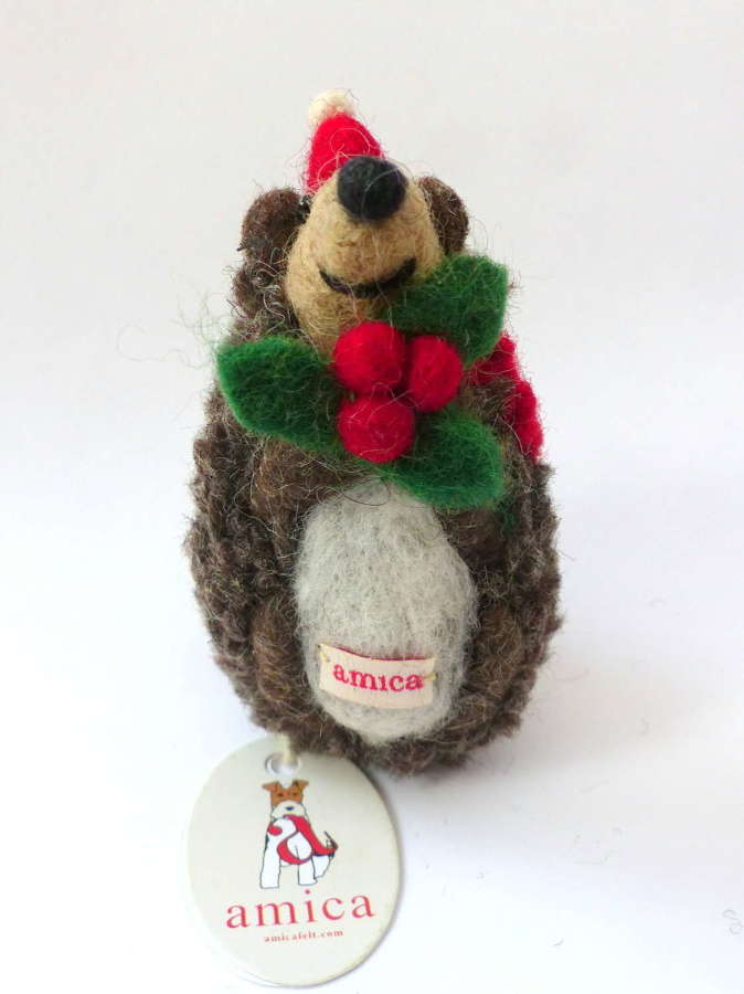 Holly the Hedgehog Christmas Decoration