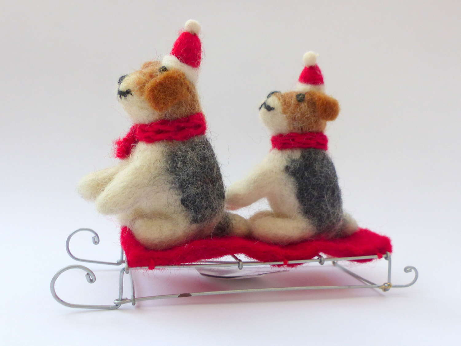 Sledging Terriers Christmas Decoration
